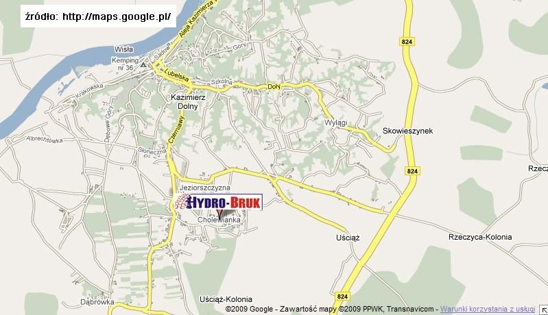 Kazimierz Wielki Miasto Mapa
